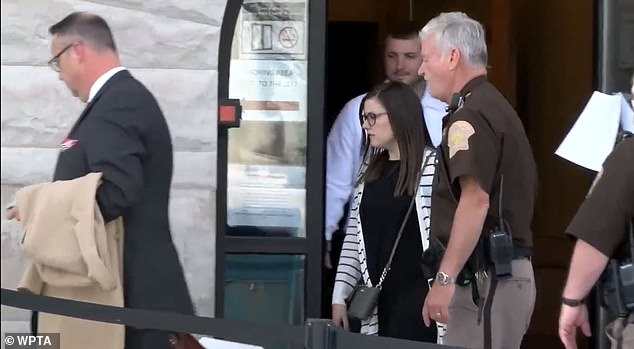 Alyssa Shepherd pictured leaving Fulton County court on Wednesday