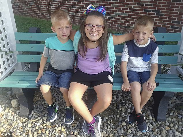In the harrowing accident Shepherd failed to stop for a waiting school bus on the Indiana 25 road outside Rochester on October 30, 2018 and she struck and killed 9-year-old Alivia Stahl and her twin half brothers Xzavier and Mason Ingle