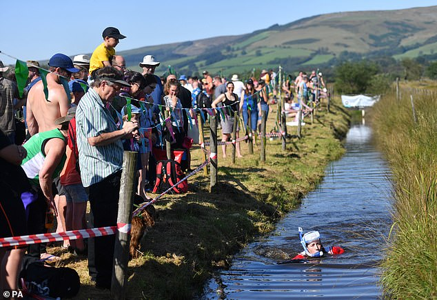 The World Bog Snorkelling Championship takes place at Waen Rhydd bog on the outskirts of the UK's smallest town Llanwrtyd Wells, Wales