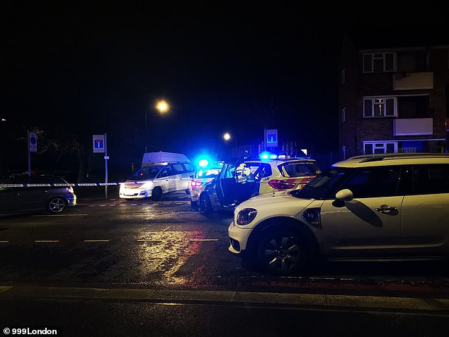 Officers were called to Bromley Road in Walthamstow, north east London at 7.16pm on Thursday following reports of two men suffering from stab injuries