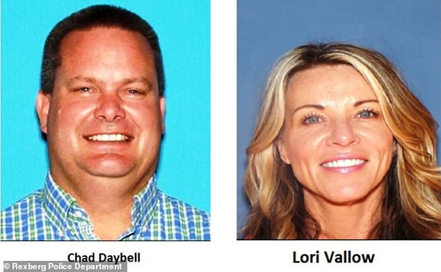 Authorities have asked the public for information on the whereabouts of Daybell (left) and Vallow (right), who appear to have fled from Rexburg amid the police search for her children. Investigators say the couple lied about the children's whereabouts and refused to cooperate