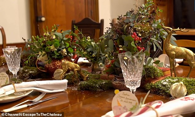 Escape To The Chateau Dick And Angel S Festive Decorations Are Branded Magical By Viewers Daily Mail Online