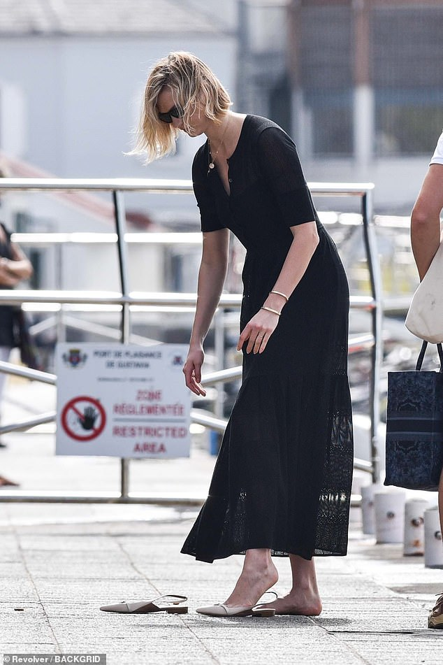 Model Kloss was on board mega yacht - named Rising Sun - which is owned by multi-billionaire business magnate and Founder of DreamWorks, David Geffen, and is worth $200million