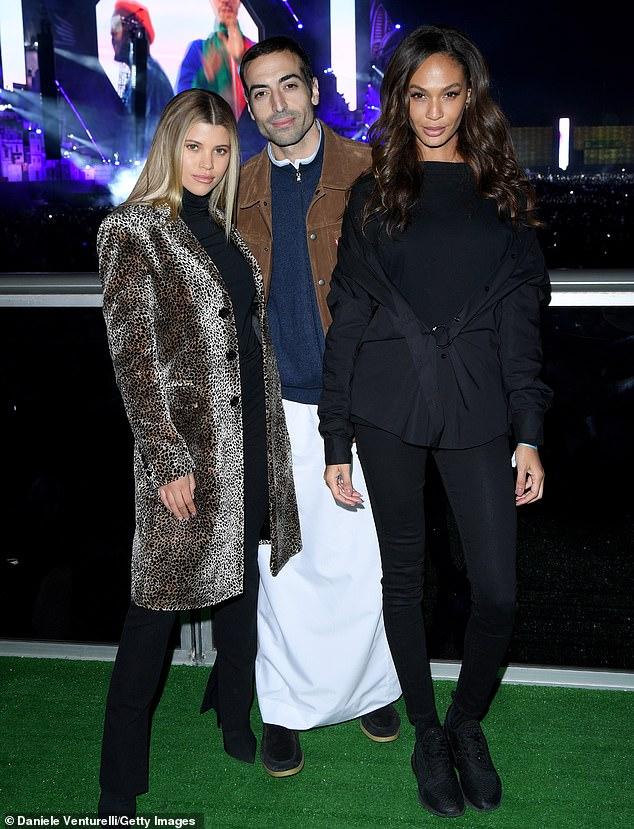 Sofia Richie, Mohammed Al Turki and Joan Smalls attend the MDL Beast Festival in Saudi Arabia