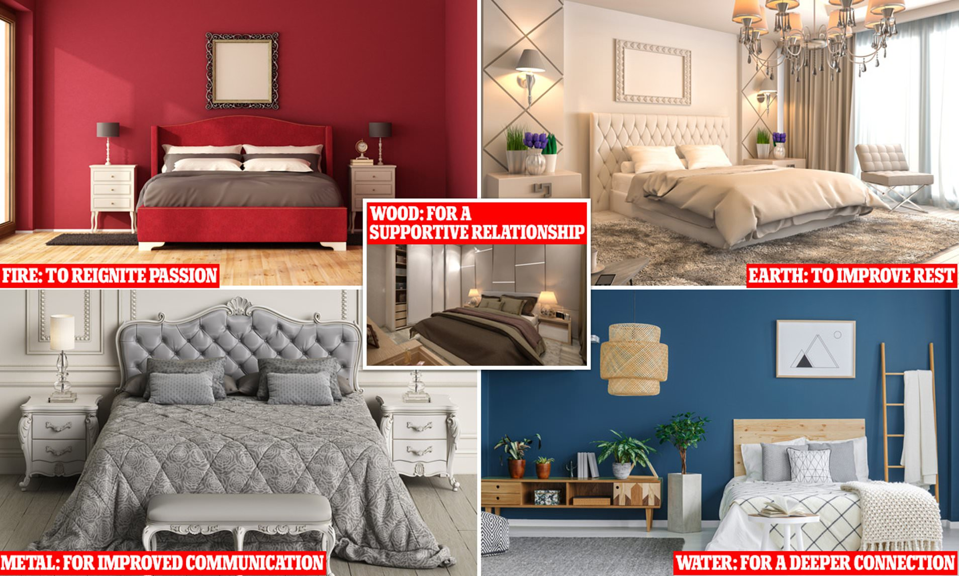 Feng Shui Expert Reveals The Five Elements Theory That Will Bring The Best Energy To Your Bedroom Daily Mail Online