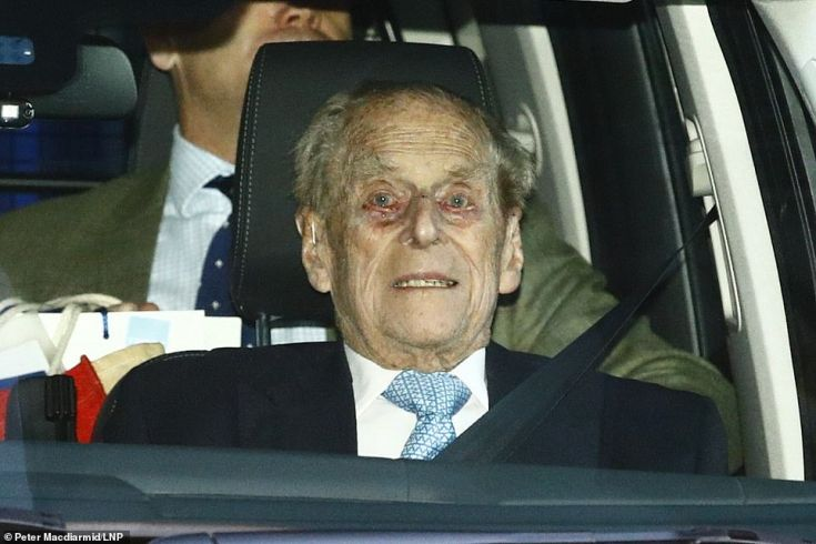 Prince Philip spent four nights in the King Edward VII's hospital in central London and left at 8.49am today