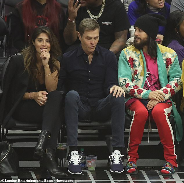 The pair attended a basketball game at the start of the month where they mingled with Jared Leto