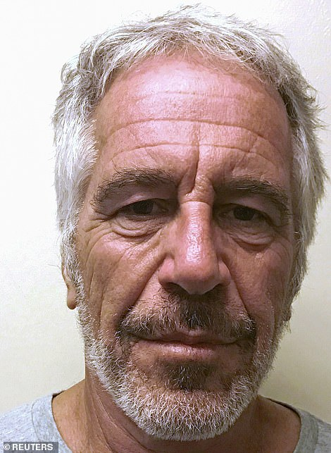The chart shows 'Jeffrey Epstein' (pictured) and 'Impeachment' were similar in their single large spike