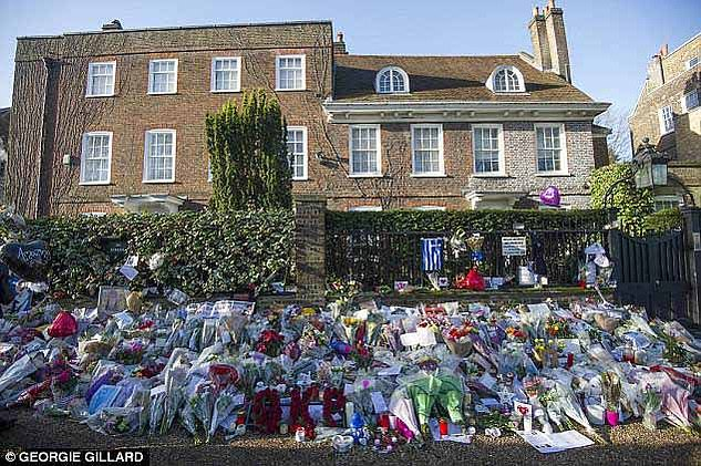 Goerge Michael's house in Highgate was adorned with tributes following his tragic passing on Christmas Day in2016