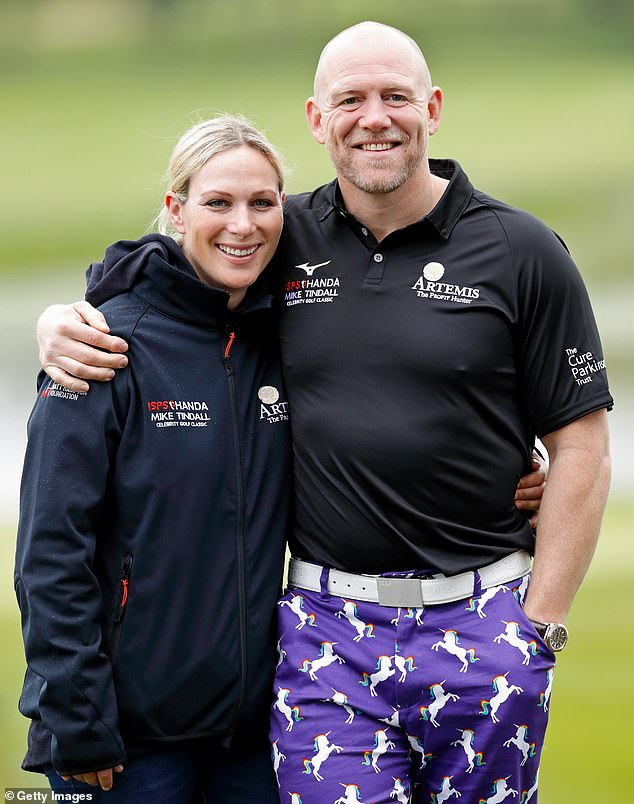 Helping hand: British royal Zara Tindall (left) has vowed to help victims of the 'indescribable' bushfires across Australia in a candid new interview. Pictured alongside husband Mike (right) who is also Down Under with her