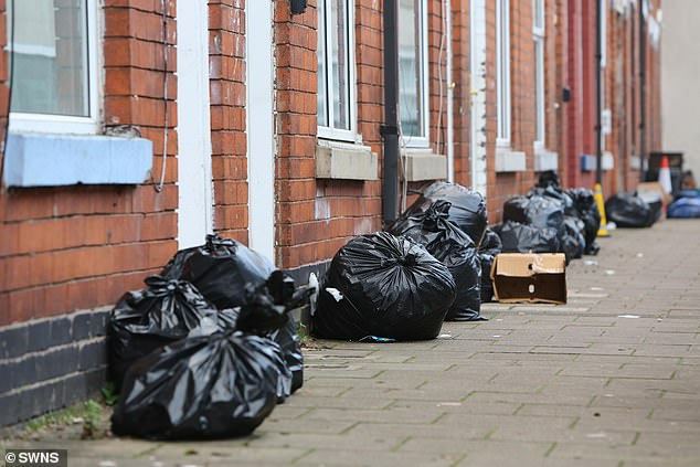 Frustrated residents took to social media to demand a better service. Pictured: Residential street in Birmingham