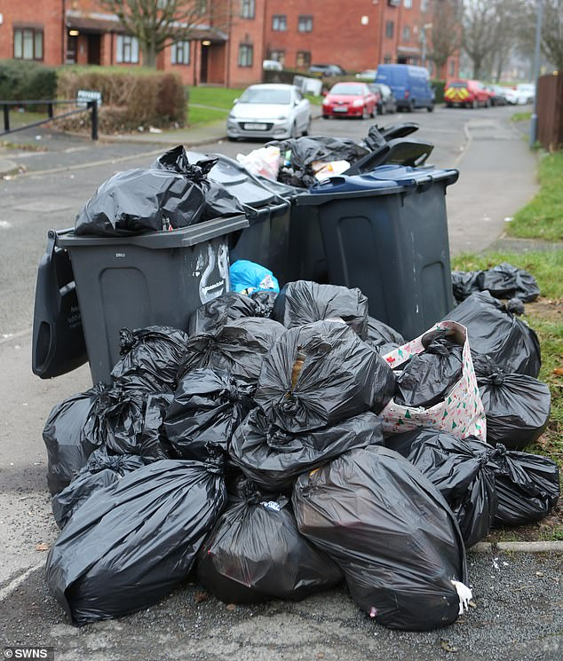 In Birmingham, residents are still battling with post-Christmas rubbish after the scheduled collection date on Monday, December 30 was missed