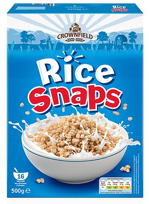 Its Crownfield Rice Snaps, an own-brand version of Kellogg's Rice Crispies, will have its crocodile character removed