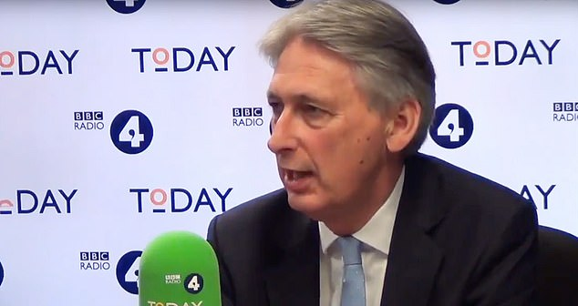 Since the government refused to allow ministers to be interviewed on the programme (pictured, Former Chaancellor Philip Hammond MP on Radio 4 Today programme on August 14) Today will not be included in the daily broadcast sounds, unlike Channel 4, in the run-up to MPs returning to Westminster next week