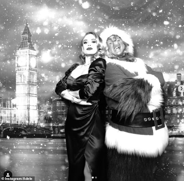 Impressive! Adele looked incredible as she flaunted her three stone weight loss in a rare yet festive Instagram post she shared from a Christmas party in December last year
