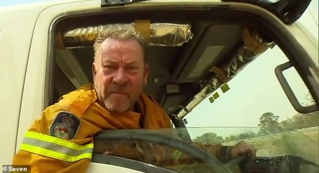 News South Wales Rural Fire Service volunteer Paul Parker's rant went viral after his foul-mouthed criticism of the prime minister in front of TV cameras in early January