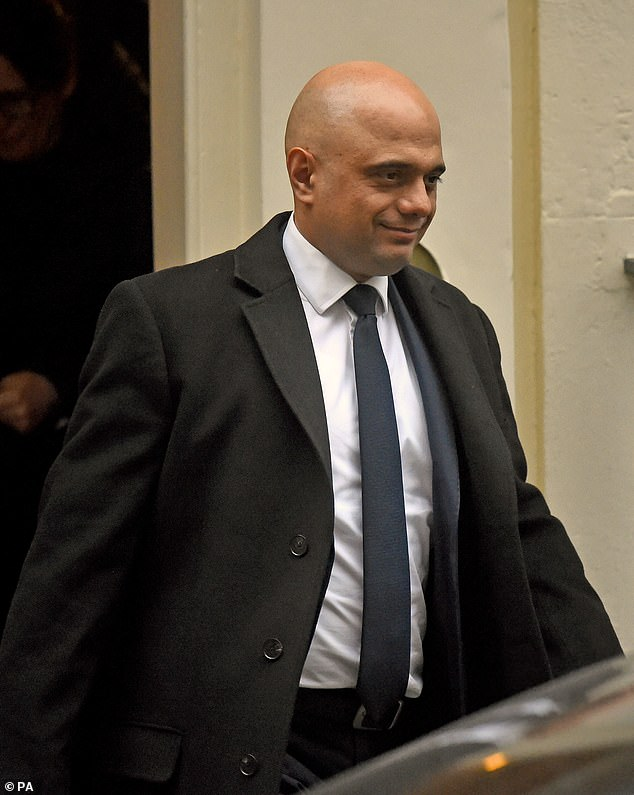 Chancellor Sajid Javid was also at work in Downing Street today, but is not thought to be taking part in meetings on the Iran situation