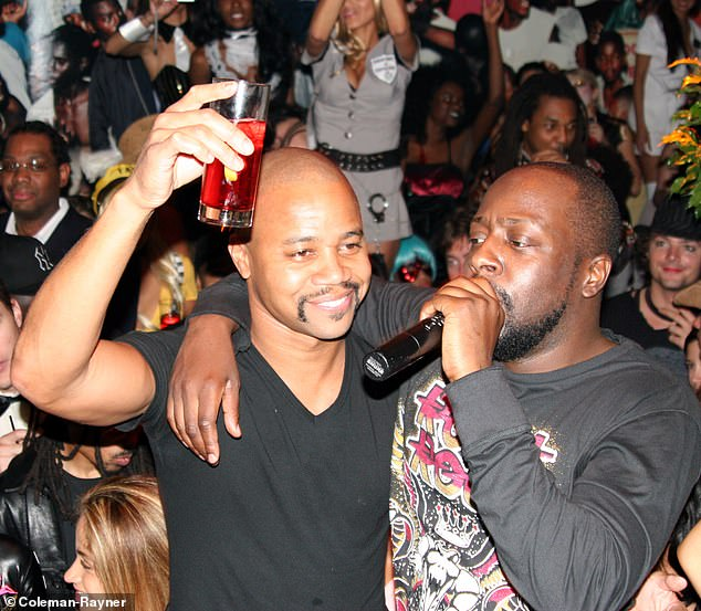 Gooding is seen partying with Wyclef Jean and Praz at the PM Lounge in the Meat Packing District in New York in 2007
