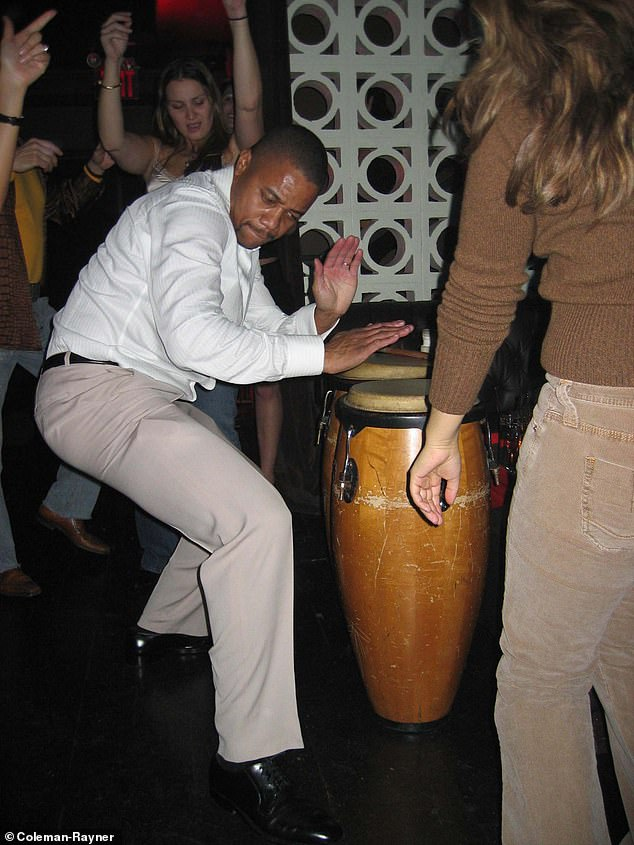 Many of the photos obtained by DailyMailTV show Cuba Gooding Jr. playing bongos or with a drink in hand. Here he is partying at party in New York in 2005