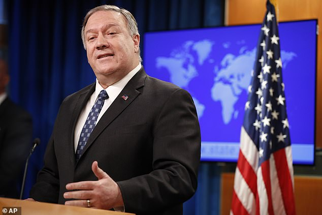 Secretary of State Mike Pompeo backed up the claim of that there was enough intelligence to prove Iran was planning an 'imminent' attack after several Democrats raised questions over the information that led Trump to direct the deadly drone attack