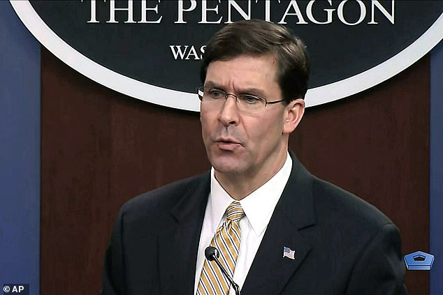 Defense Department Secretary Mark Esper said it was'more fair to say days' when asked what the White House meant when it said there was an 'imminent' threat of attacks from Iran
