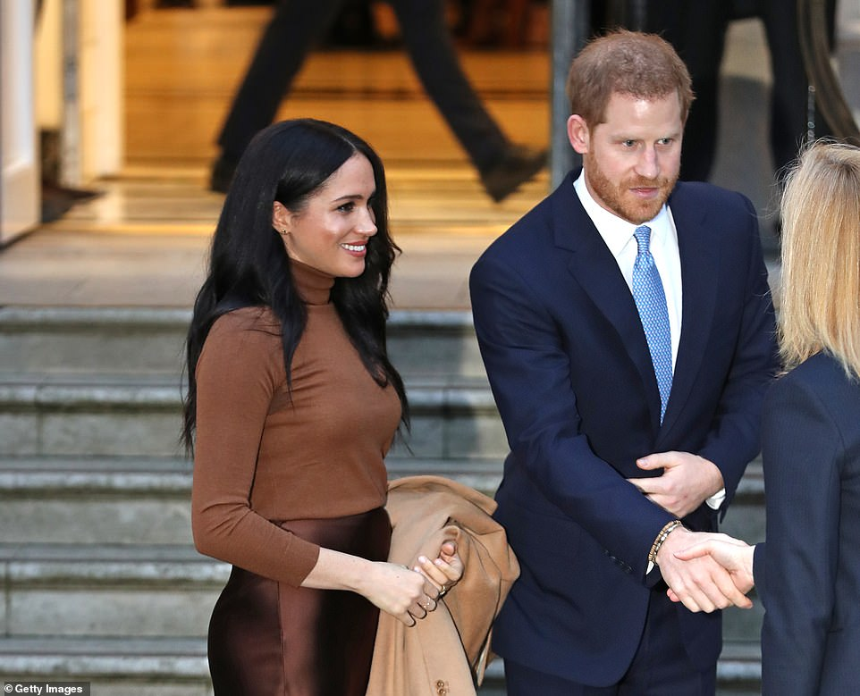 Prince Harry thanked staff at Canada House for hosting the couple yesterday afternoon during their royal engagement