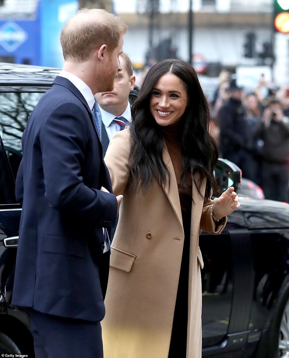 Prince Harry, Duke of Sussex and Meghan, Duchess of Sussex arrive at Canada House yesterday in their first public engagement of the year