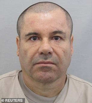 While Joaquín 'El Chapo' Guzmán (pictured) was in control of the Sinaloa Cartel, his organization allegedly paid millions of dollars to  Genaro García Luna, a former top Mexican government official