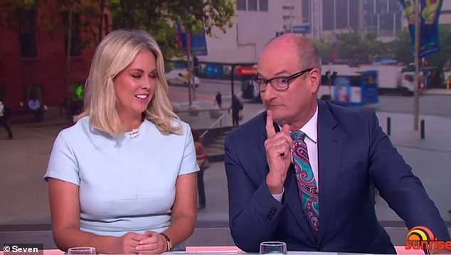 Closing the gap! Until Karl and Allison took over, it wasn't uncommon for Sunrise to beat Today by as much as 100,000 viewers - but those dark days now seem to be over. Pictured: Sunrise hosts Sam Armytage (left) and David Koch (right)