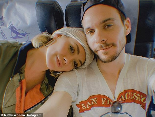 Up, up and away! Hilary Duff is ready to be back home in Los Angeles with the ones she loves the most as she snapped a selfie with Matthew Koma before traveling back to the states