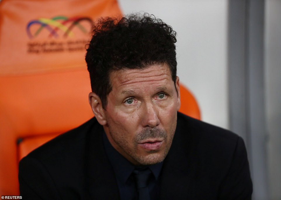Atletico Madrid manager Diego Simeone was chasing a trophy, with his team slightly out of rhythm in La Liga