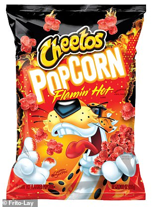 In a press release from January 9, the brand announced: 'Cheetos Popcorn marks the first time ever that popcorn has been infused with Cheetle'