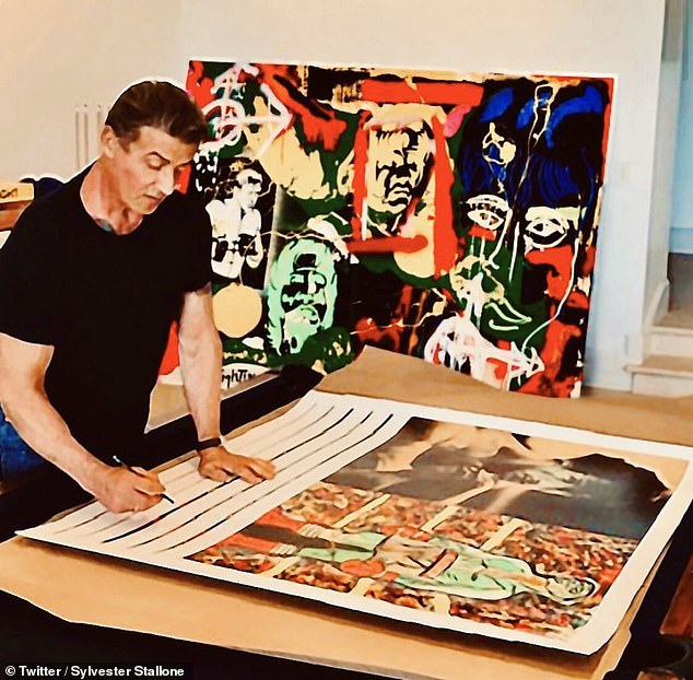 Stallone, who studied art and has been painting since he was eight-years-old, began nurturing his more sensitive side way before he starred in the hit Rocky and Rambo movies
