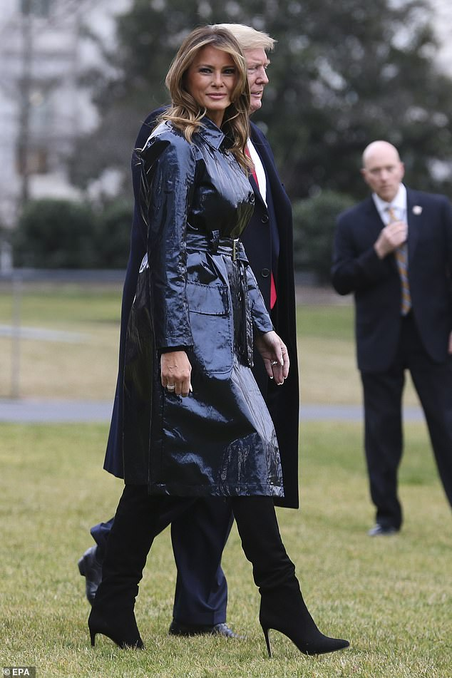 Even on the White House South Lawn, where the president and his wife picked up Marine One to jet to New Orleans for the game, the trench didn't look entirely black