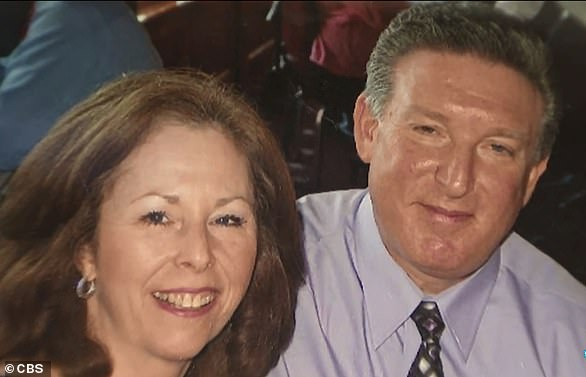 In 2011, he felt a lump in his chest and, at his wife's insistence, went to the doctor, where he was diagnosed with stage III breast cancer. Pictured: Flynn, right, with his wife, Maureen, years ago