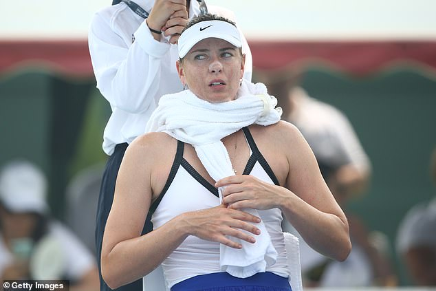 Maria Sharapova saw her match on Tuesday abandoned due to health concerns over smoke inhalation having seen the former world No 1 become unwell in the smoky conditions