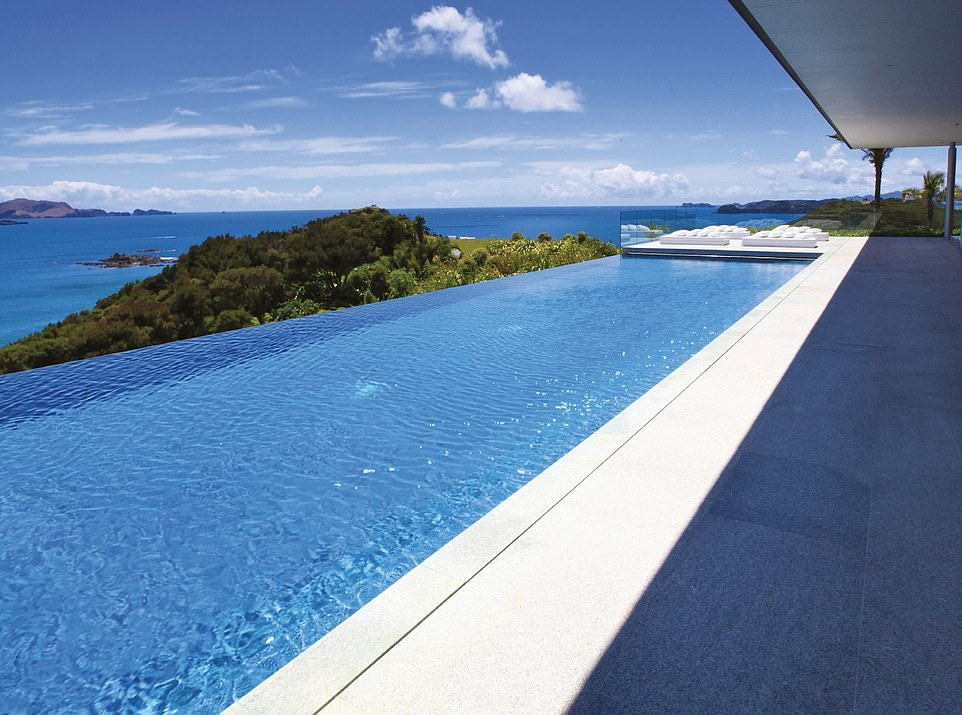 Rahimoana, a suite at Eagles Nest in New Zealand, is described as 'more like a private home than a suite'. Standout features include a helipad, four en-suite bedrooms and an 82ft infinity pool. A one night stay starts from $13,000 (£10,000)
