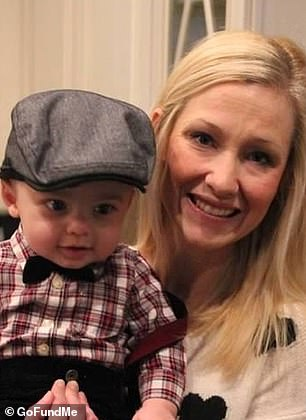 Around age three-and-a-half he will likely develop a severe form of epilepsy and experience regression. Pictured: Maxwell with his mother