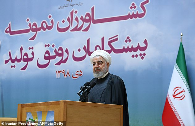Iranian president Hassan Rouhani (pictured today)has vowed to punish those responsible as he called the shoot-down of the Boeing 737 an 'unforgivable error'