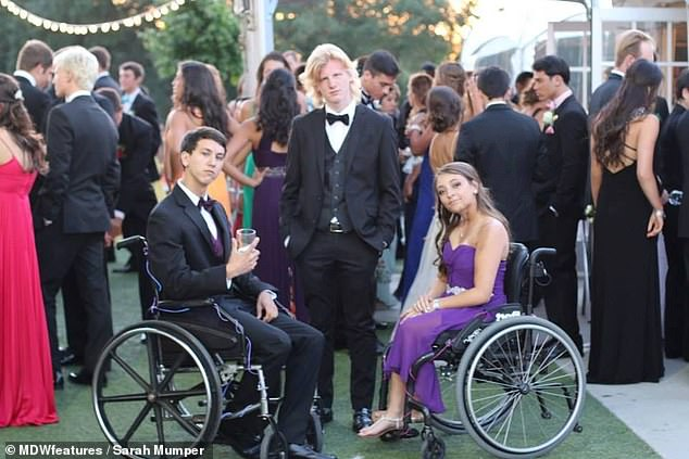 By age 10, Sarah was had to use a wheelchair much of the time after breaking her hip in a kickball game. During high school, she worried what opportunities her disability would block