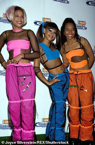 Girl group TLC is pictured withLisa 'Left Eye' Lopes, who died in 2002