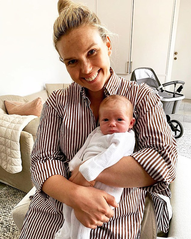 'I was a total mess': In January, Edwina also spoke candidly about the challenges she's faced as a new mother while celebrating one month since the birth of her newborn