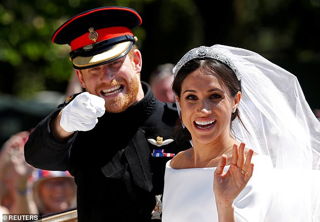 His only contact with his daughter since her wedding day was the August 2018 letter, in which she accused him of lying about her and inflicting 'unnecessary and unwarranted pain' on her and her new husband (pictured: Meghan and Prince Harry on their wedding day at St George's Chapel in Windsor Castle on May 19, 2018)
