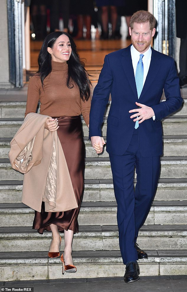 Making deals: Max also said that the pair can sign a deal with Netflix, as 'that's where the money is and they've got a global brand and a global image so they can make money there.' Pictured in London last week visiting Canada House