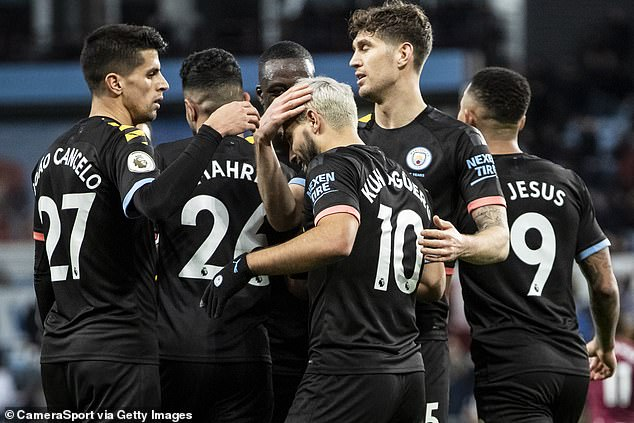 Man City (team above) won the match on Sunday which they played at Aston Villa