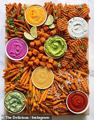 Piled high with potato snacks of all shapes and sizes, the unconventional creations are a chip lovers dream, featuring everything from crinkle cut chips and sweet potato gems to waffle fries and wedges