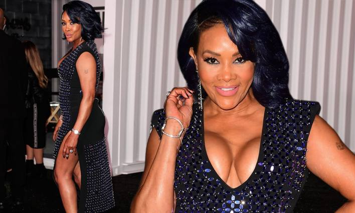 Vivica A. Fox sets pulses racing in low-cut dress at Bad Boys For ...