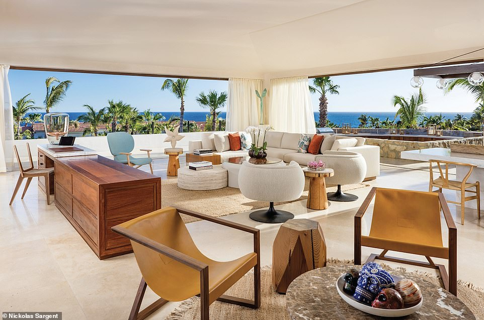 Villa One at One&Only Palmilla, Mexico, has four bedrooms, a movie theatre, a fire pit and a 24-hour butler service. A one night stay starts from $9,000 (£6,900). Elite Traveler describes the suite asa 'unique Mexican hideaway'