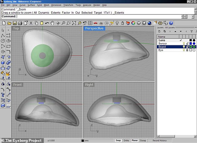 Mr Spence is constantly looking to refine his eye designs and is presently working alongside a team of engineers to create a 3D-printed version