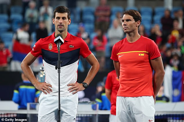 The Spaniard lost to Novak Djokovic (left) and he will be determined to exact revenge